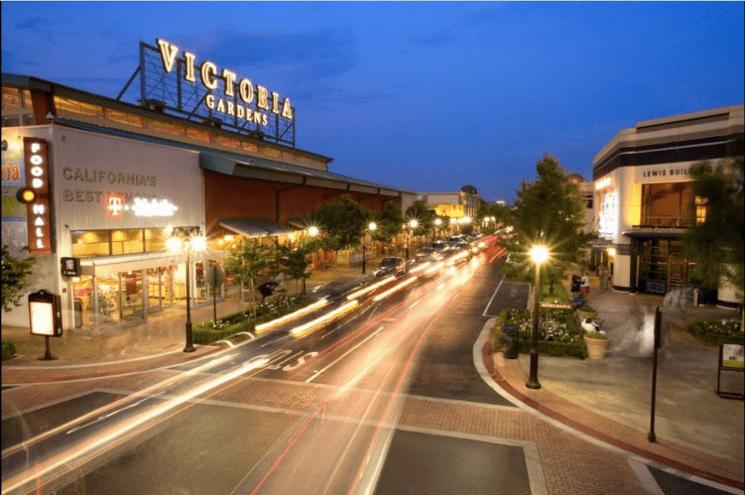 Victoria Gardens Night Scene